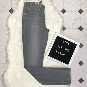 NWT Levi's gray mid rise skinny jeans size 27 X 32